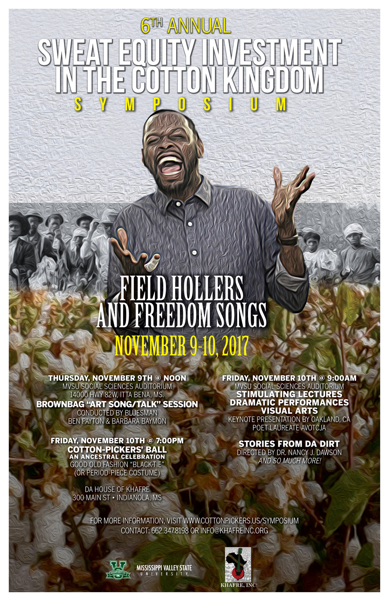 6th Annual Cotton Kingdom/Sweat Equity Symposium and Cotton Pickers' Ball